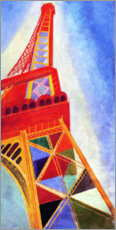Aluminium print  The Eiffel Tower - Robert Delaunay