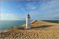 Wall sticker  Lighthouse Rubjerg Knude in Denmark - HADYPHOTO