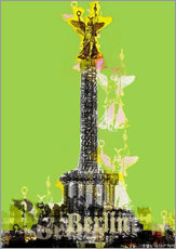 Gallery print  Berlin Victory Column (on Green) - JASMIN!