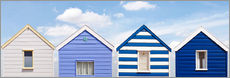 Gallery print  Blue beach huts, England - Olaf Protze