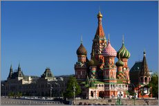 Wall Stickers  St. Basil's Cathedral on Red Square in Moscow - Walter Bibikow