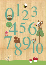 Gallery print  Educational Numbers - learn to count - GreenNest