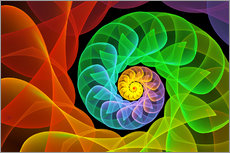 Wall sticker  Fractal 'The colors and the light' - gabiw Art