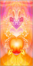 Gallery print  Spirit Love - I follow my loving heart - Dolphins DreamDesign
