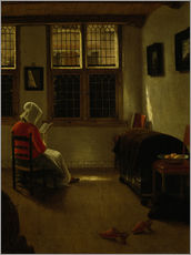 Gallery print  Woman Reading. - Pieter Janssens Elinga