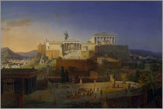 Gallery print  The Acropolis of Athens, 1846 - Leo von Klenze