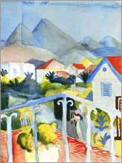 Gallery print  Saint Germain near Tunis - August Macke