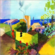 Gallery print  Landscape by the sea - August Macke