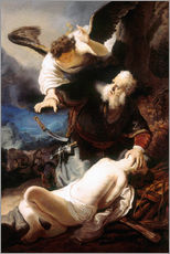 Wall sticker  Sacrifice of Isaac - Rembrandt van Rijn