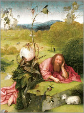 Gallery print  John the Baptist in Meditation - Hieronymus Bosch