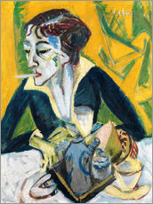 Gallery print  Erna with a Cigarette - Ernst Ludwig Kirchner