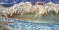 Gallery print  The Horses of Neptune - Walter Crane