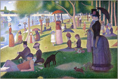 Gallery print  A sunday afternoon on the island of La Grande Jatte - Georges Seurat