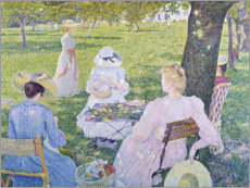 Gallery print  Family in the orchard. 1890 - Theo van Rysselberghe