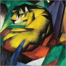 Aluminium print  The tiger - Franz Marc