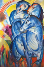 Wood print  Tower of Blue Horses - Franz Marc