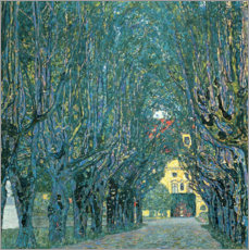 Canvas print  Avenue in the park of Kammer Castle - Gustav Klimt