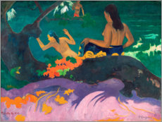 Premium poster  Fatata te miti (By the sea) - Paul Gauguin