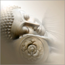 Wall sticker  Sleeping Buddha - Christine Ganz