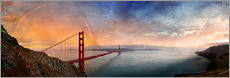 Gallery Print  San Francisco Golden Gate with rainbow - Michael Rucker