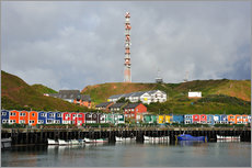 Wall sticker  Colorful crab shacks Helgoland - FineArt Panorama