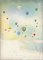 Gallery print  Hot air balloon day - Elisandra Sevenstar