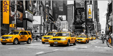 Gallery print  Yellow cabs in Times Square - Hannes Cmarits