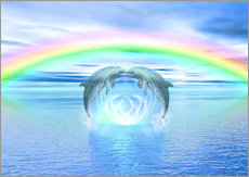 Wall sticker  Dolphins Rainbow Healing - Dolphins DreamDesign