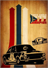 Wall sticker rallye monte carlo champion