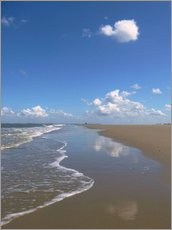 Gallery print  further beach with clouds - Susanne Herppich