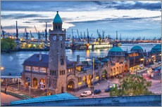 Gallery print  Harbour and Jetty, Hamburg - Jan Schuler