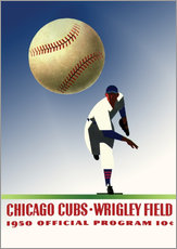 Wall sticker  chicago cubs 1950 - Sporting Frames