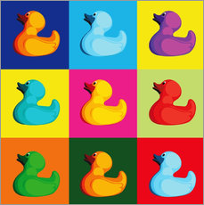 Wall sticker  Pop art duck - coico