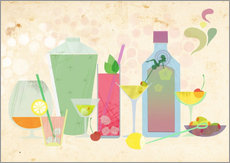 Wall sticker Classic cocktails