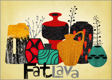 Wall sticker Fat Lava