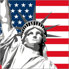 Wall sticker  statue of liberty - coico