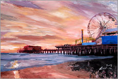 Gallery Print  Santa Monica Pier at Sunset - M. Bleichner