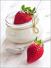 Gallery print  Fresh strawberries with curd - Edith Albuschat