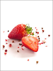 Wall sticker  Strawberries with red peppercorns - Edith Albuschat