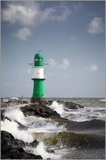 Gallery print  Green lighthouse in the surf I - Thomas Deter