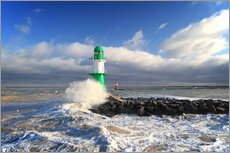 Gallery print  Green lighthouse in the surf III - Thomas Deter