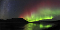 Wall sticker  Polar Lights, Milky Way and Big Dipper - Joseph Bradley