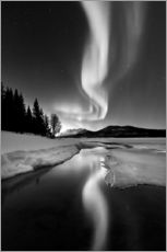 Gallery print  Aurora Borealis over Sandvannet Lake in Troms County, Norway - Arild Heitmann