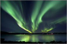 Gallery print  Northern lights over Tjeldsundet in Troms - Arild Heitmann