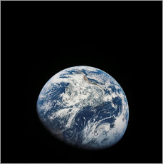 Wall sticker Earth from the viewpoint of Apollo 8