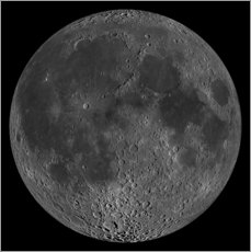 Gallery print  Mosaic of the lunar nearside - Stocktrek Images