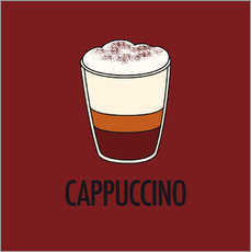 Wall sticker Cappuccino, for the italian lover in you!
