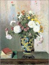 Gallery print  Bouquet of Flowers, Chrysanthemums in a Chinese Vase - Camille Pissarro