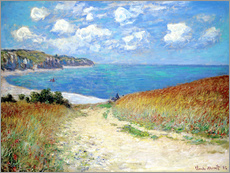 Wall Stickers  Path in the Wheat at Pourville - Claude Monet
