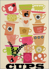 Wall sticker Cups I